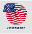 day veterans poster realistic flag of america vector image