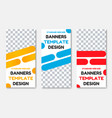 design of vertical white banners with color vector image