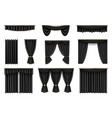 different black curtains realistic vector image vector image
