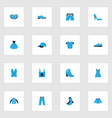 dress colorful icons set collection of female vector image vector image