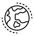 earth planet icon outline style vector image vector image