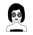 Face of woman in spa vector image vector image