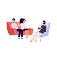 family psychotherapy session psychotherapist vector image vector image