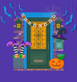 happy halloween card background poster view of vector image vector image