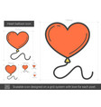 heart balloon line icon vector image vector image