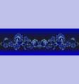 horizontal floral border vector image