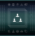 human connection symbol icon vector image