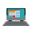 laptop computer web site internet online vector image
