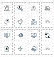 management icons set collection of arrow email vector image vector image
