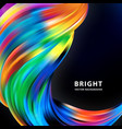 modern colorful flow poster art design for your vector image vector image