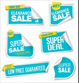 modern sale banners and labels collection 08 vector image