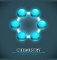 molecule isolated on dark backgroun vector image vector image