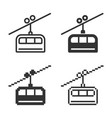 monochromatic cable railway icon in different vector image vector image