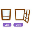 opposite words with open and close vector image vector image