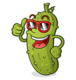 pickle cartoon character with attitude vector image vector image