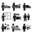 public safety and security jobs occupations vector image vector image
