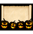 Pumpkins on the background of papyrus vector image vector image