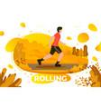 roller skating man in park vector image vector image