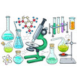 school classes laboratory equipment and chemical vector image