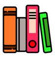 school folders icon outline style