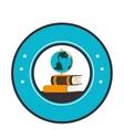 school supply seal icon vector image