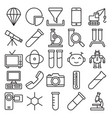 science and technology isolated icons set vector image vector image