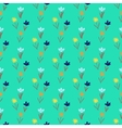 Seamless floral pattern with small flowers vector image vector image