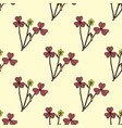 seamless pattern with creeping woodsorrel vector image vector image