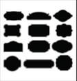set blank retro vintage labels vector image vector image
