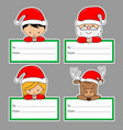 set christmas tags vector image vector image