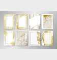 set of elegant brochure card background cover vector image