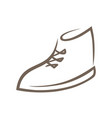 shoe symbol icon on white vector image vector image