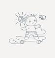 skating boy vector image