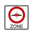 Slug hunting zone vector image vector image