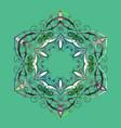 Snowflake ornamental pattern flat design of
