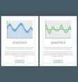 statistics collections page vector image vector image
