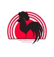 The cock of the rising sun Chinese New Year vector image