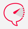 time chat icon pointer inside indicate interval vector image vector image