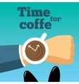Time for coffee Morning vector image