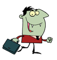 Vampire With Briefcase vector image vector image