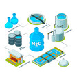 water cleaning 3d aqua industrial chemical vector image vector image