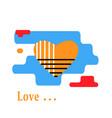 yellow heart icon vector image vector image