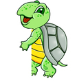 turtle with blank sign vector image