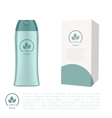 Cosmetic bottle and a box vector image