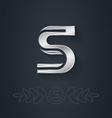 elegant silver font Letter S Template for company vector image
