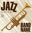 Jazz festival background vector image