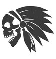 tattoo indian skull vector image