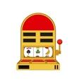 Isolated slot machine design vector image