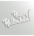 Happy Halloween- lettering Greeting Card vector image