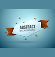 abstract banner template vector image
